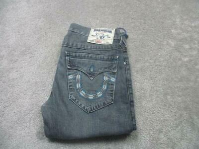 Mens True Religion 32 W 34 L Distressed Regular Straight Jeans / Ref A21 220 • 39.95£