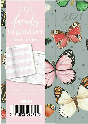 £1.99 • Buy Grey 2021 Diary A5 Week To View Hard Backed Family Organiser Planner