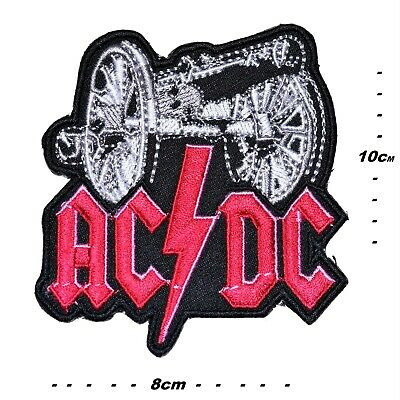 £2.49 • Buy Ac/dc Large Iron Or Sew On Patches Heavy Metal Punk Music Embroidered Badge Acdc