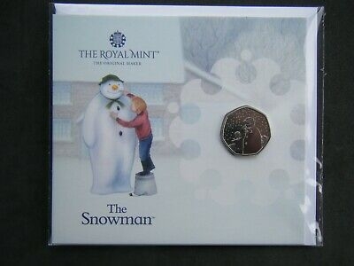 £11.19 • Buy 2021 SNOWMAN 50p Fifty Pence Coin Royal Mint Pack Brilliant Uncirculated Sealed