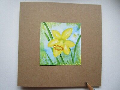 £2.75 • Buy Hand Painted Card Daffodil. Birthday Get Well Anniversary