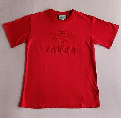 AU108.33 • Buy Gucci Tennis T-shirt Red S Oversized