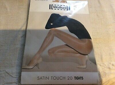 Wolford Satin Touch 20 Tights BNIpkt Sz Lrg See Described Below & Pics • 8£