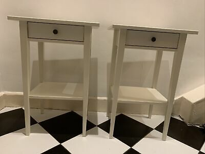 Ikea Hemnes Bedside Table - White - Pair - Used • 11£