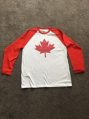CANADA T-SHIRT Mens Maple Leaf Canadian National Flag Day Ice Hockey Basketball • 9.99£