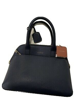 AU120 • Buy BNWT Oroton Leather Navy Handbag