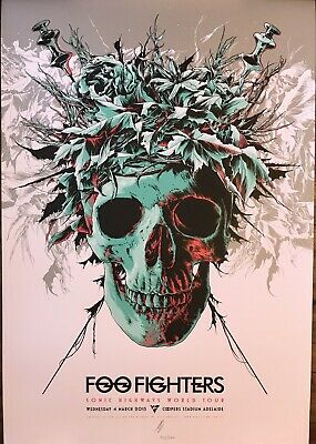 $149.99 • Buy Foo Fighters Rare Concert Poster Ap Auto Adelaide Aus 2015 #72/350 Dave Grohl