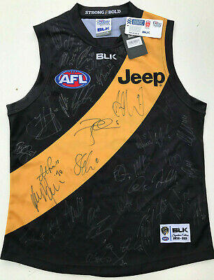 AU689 • Buy  2016 RICHMOND TIGERS Signed AFL JUMPER Home BLK Jeep Bingle Size M Cert Of Auth
