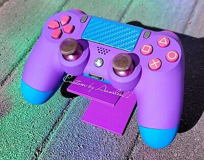 AU175.93 • Buy 💜playstation/ps4 V2 Custom Controller Purple Soft Touch Vinyl Blue Touch Pad 💙