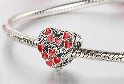 AU27.50 • Buy FAMILY IS MY WORLD (Loveheart) S925 Sterling Silver Charm By Charm Heaven NEW