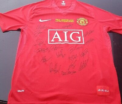 AU160 • Buy Manchester United 2008 Champions League Winners Signed Jersey + Coa