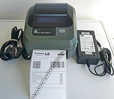 Zebra GK420d Thermal Label Printer With  Charger And USB Cable 430 • 159£