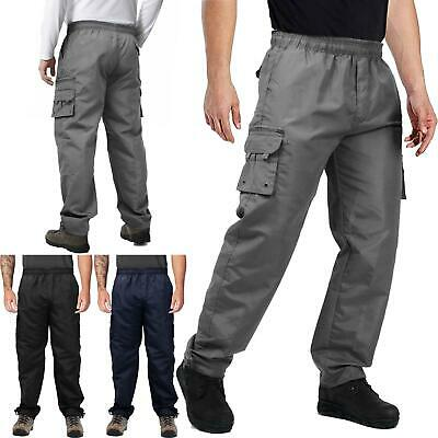 £12.99 • Buy Mens Cargo Combat Work Trousers Multi Pockets Fully Elasticated Stretch Waist