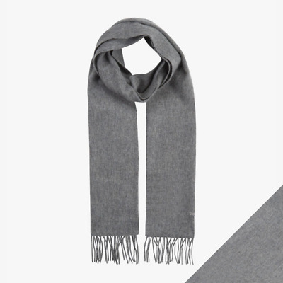 Barbour Scarf 100% Lambswool Luxury Soft Plain Grey Marl - Brand New • 17.99£