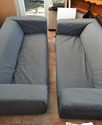 2 IKEA Sofas (Klippan Design) With Removable Washable Covers • 50£