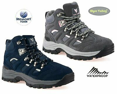 £35.70 • Buy Womens Ladies Walking Leather Hiking Waterproof Ankle Boots Trainers Size 3-8