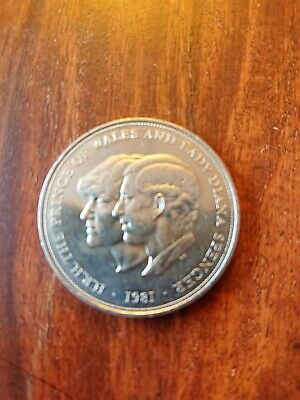 1981 Prince Of Wales Lady Diana Spencer Coin • 0.99£