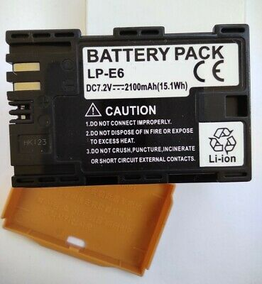 LPE6 LP-E6 LPE6N LP-E6N Replacement Battery For Canon Camera 2100mAh • 17.50£