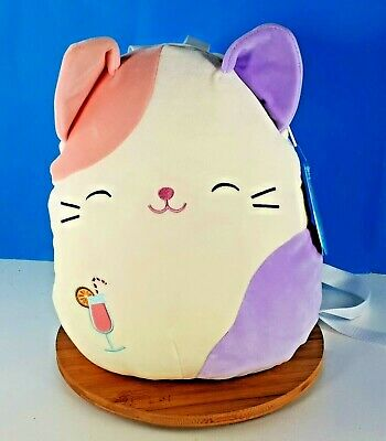 $ CDN58.41 • Buy Squishmallows Backpack Charlotte The Cat Calico Pastel Kitty Cat New Kellytoy