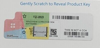 $ CDN34.75 • Buy  Microsoft Windows 10 Pro Key Licence DVD Box COA Sticker