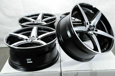$549 • Buy 17x7.5 4x100 4x114.3 Black Rims Fits Toyota Corolla Prius C Yaris 4 Lug Wheels