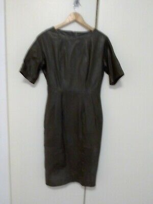 AU20 • Buy ASOS Genuine Leather 'Wiggle' Dress UK Size 10