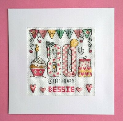 £9.99 • Buy Happy 80th Birthday Cross Stitch Card Kit