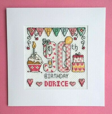 £9.99 • Buy Happy 90th Birthday Cross Stitch Card Kit