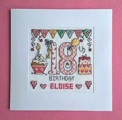 £9.99 • Buy Happy 18th Birthday Cross Stitch Card Kit