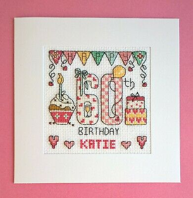 £9.99 • Buy Happy 60th Birthday Cross Stitch Card Kit