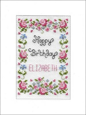 £9.99 • Buy Happy Birthday Cross Stitch Card Kit