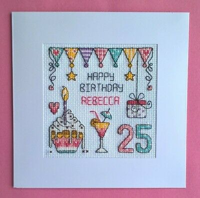 £9.99 • Buy Happy Birthday Cross Stitch Card Kit (suitable For Any Age)