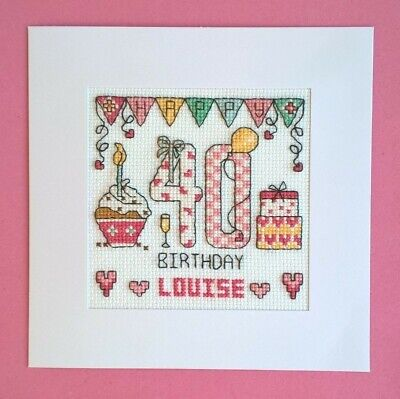 £9.99 • Buy Happy 40th Birthday Cross Stitch Card Kit