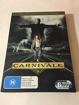 'CARNIVALE' Second Season 2006 Region 4 : 6 Disc DVD With Card Outer Cover • 7.28£