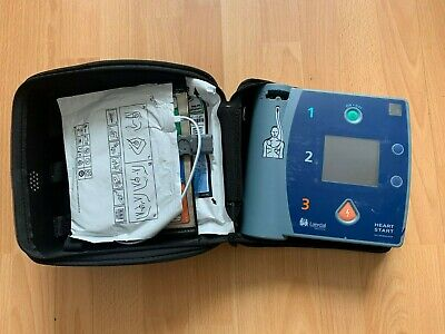 Laerdal HeartStart FR2 AED Defibrillator With Good Battery, Pads + Case • 349£