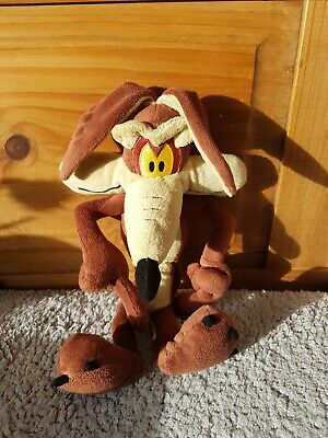 Looney Tunes Wile E. Coyote Warner Bros Plush Soft Toy Doll Figure Road Runner • 10£