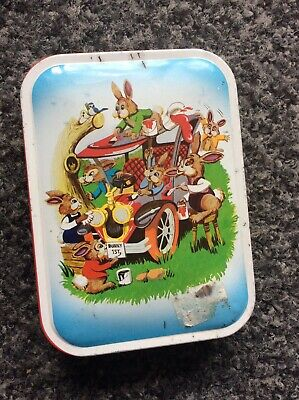 Vintage Blue Bird Sweet Tin With Bunny Print Retro Easter Worcestershire England • 5£