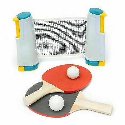 Retractable Table Tennis Game Family Kids Travel Ping Pong Portable Net Kit Set  • 10.49£