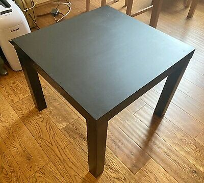 Square IKEA Lack Coffee Table In Black Brown (Used) • 0.01£