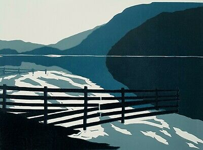 Lake District Bassenthwaite Linocut Print • 40£