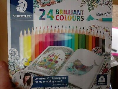 Staedtler 24 Brilliant Colours Ergo Soft And Free Postage • 13.99£