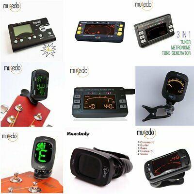 $ CDN11.79 • Buy Musedo Clip-on LCD Electronic Chromatic Tuner For Guitar Bass Violin Ukulele
