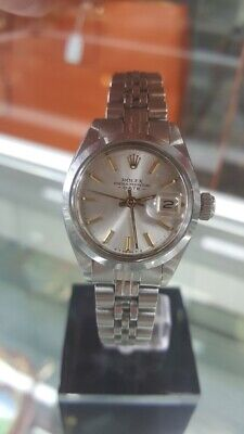 AU1984 • Buy Rolex Oyster Perpetual Date 6916 Silver Dial Stainless Steel Automatic Watch.