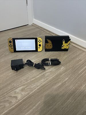 AU409 • Buy Nintendo Switch Console Limited Edition Pikachu Pokemon Edition