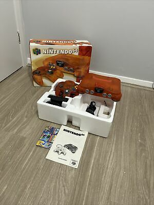 AU649 • Buy Nintendo 64 Console Fire Complete In Box With Expansion Pak Rare