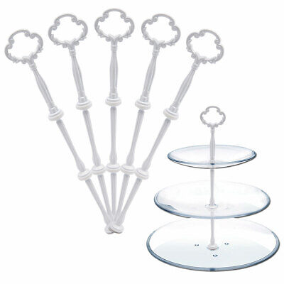 £7.99 • Buy 5 3-Tier Cake Plates Stand Rod Fruit Food Tea Hold Wedding Tableware Floral Top