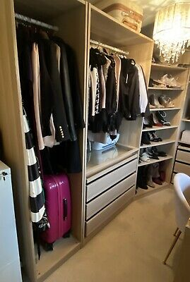 IKEA Pax Wardrobes White Stained Oak • 50£