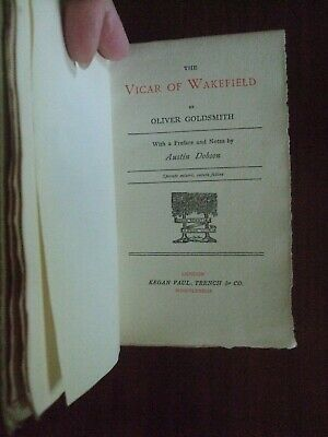 The Vicar Of Wakefield By Oliver Goldsmith 1883 • 7.99£
