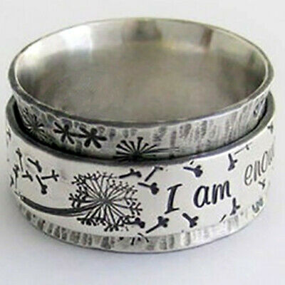 £3.99 • Buy Creative Jewelry 925 Silver Rings Women's Engagement Party Band Rings Size 6-10