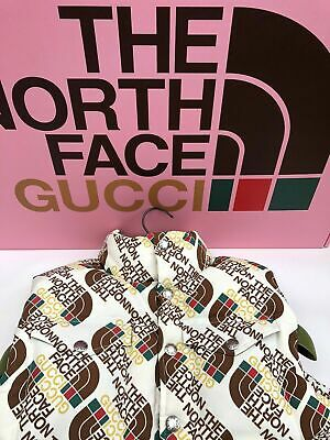 AU650.11 • Buy Gucci X The North Face TNF  Down Vest  Brown/Beige Size Small Brand New With Tag